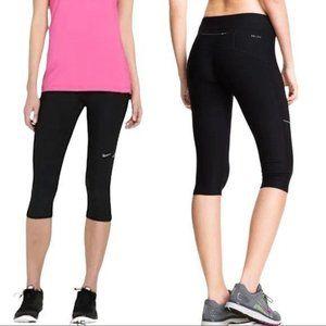 Nike Black Crop Dri Fit Athletic Stretch Leggings